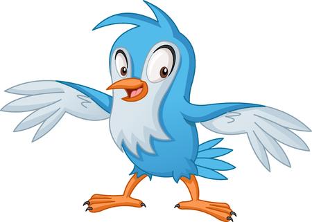 Cartoon blue bird.