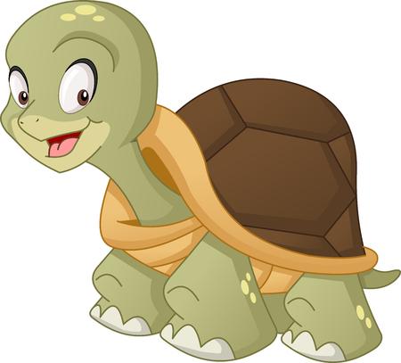 Cartoon cute turtle.