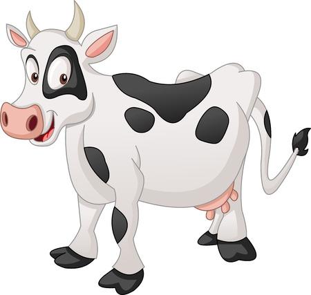 Vache tachetée de dessin animé.
