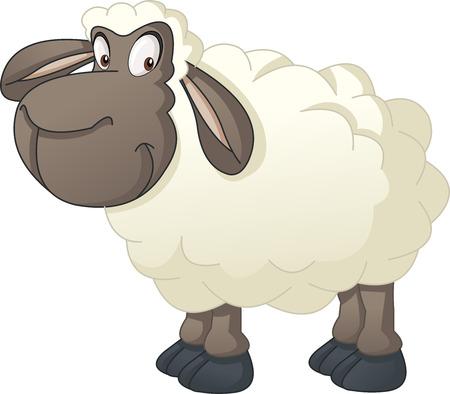 Cartoon cute sheep.