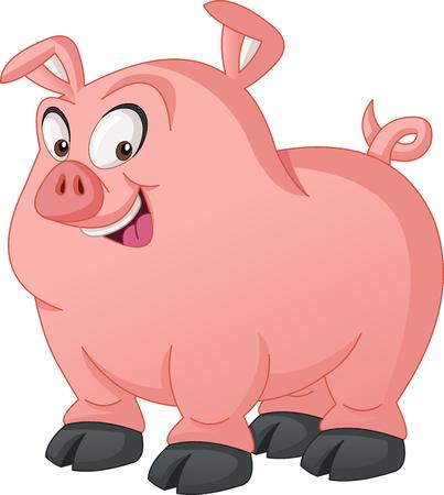 Cartoon cute pig.