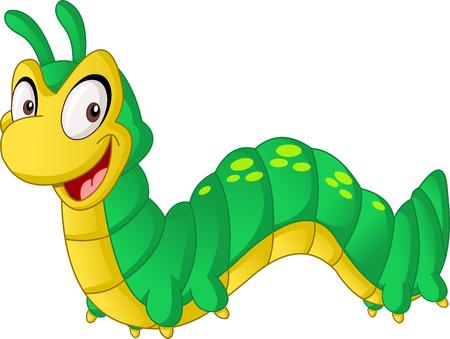 Cartoon cute Caterpillar.