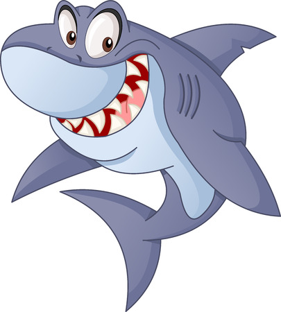 Cartoon cute shark.