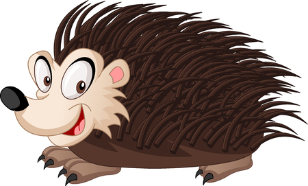 Cartoon cute spiky hedgehog.
