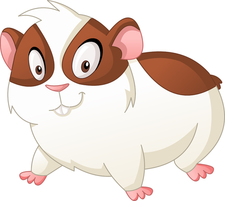 Cartoon cute hamster. Illustration