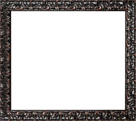 black and white photograph: Black art picture frame Stock Photo