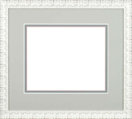 white art picture frame Stock Photo - 12603756