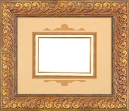 Gold art picture frame Stock Photo - 12603770