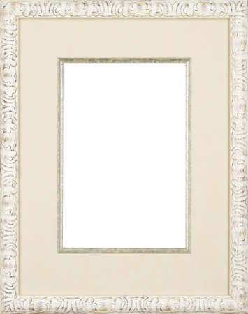 White art picture frame Фото со стока