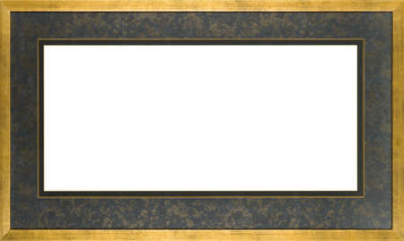 Gold art picture frame Stock Photo - 12603803
