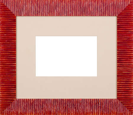 Red art picture frame photo
