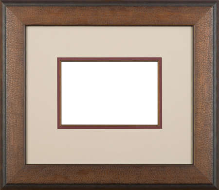 Brown art picture frame Фото со стока