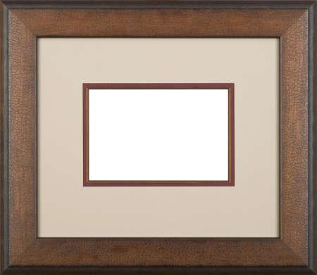 ornate gold frame: Brown de arte marco de la imagen Foto de archivo