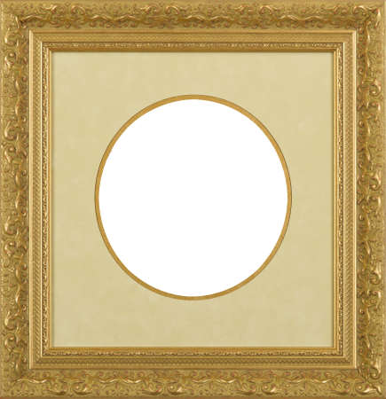 Gold art picture frame photo