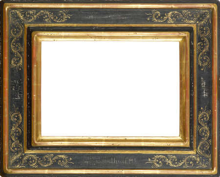 gilt: Gold and Black art picture frame Stock Photo