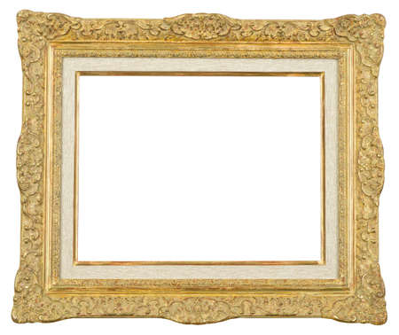 Gold art picture frame Stock Photo - 12603848