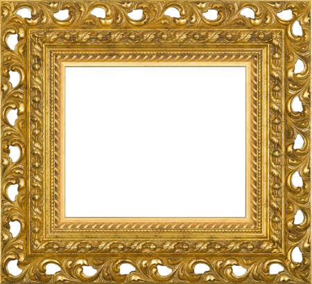 art picture frame golden photo