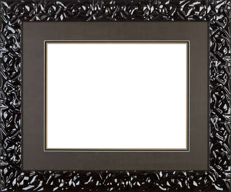 baroque picture frame: black art picture frame
