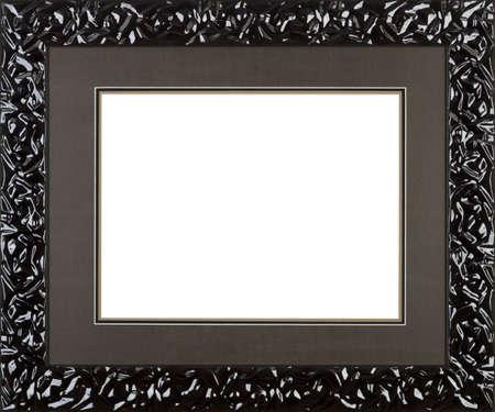 Baroque picture frame: noir cadre photo d'art Banque d'images