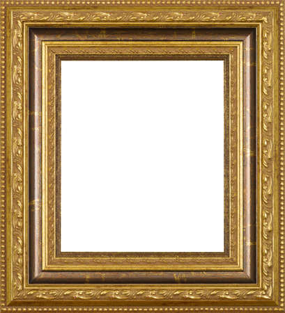 antique frame: Gold art picture frame