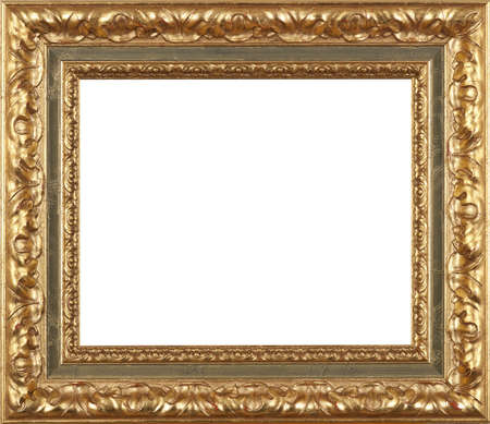 Gold art picture frame Stock Photo - 12603844