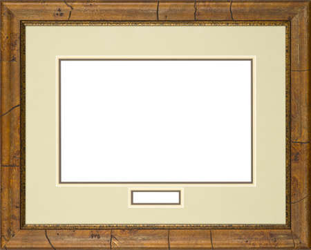 gilt: brown art picture frame Stock Photo