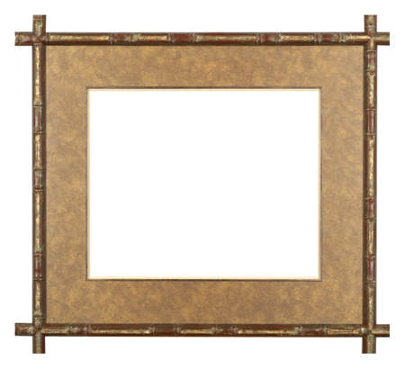 art picture frame bamboo golden photo