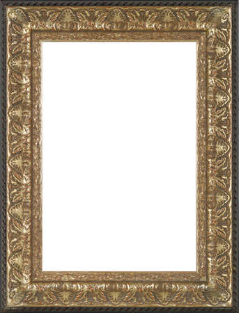 picture frame: art picture frame golden