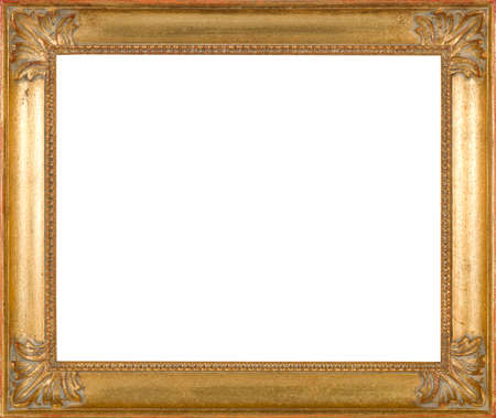 gold swirls: art picture frame golden
