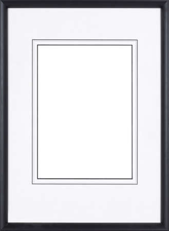 Black picture frame isolated on white background