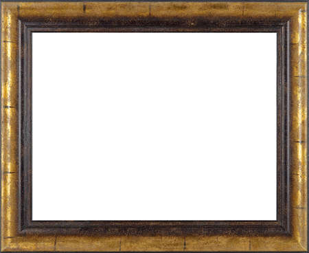 Art Picture Frame Golden Isolated On White Background Stock Photo ...