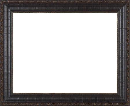bordes decorativos: Marco negro aislado en fondo blanco