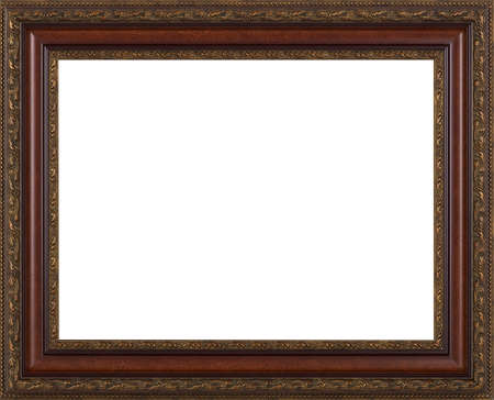 gold picture frame: Picture frame isolated on white background Stock Photo