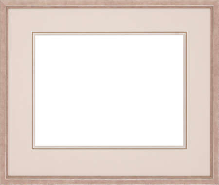 gold picture frame: art picture frame isolated on white background Stock Photo