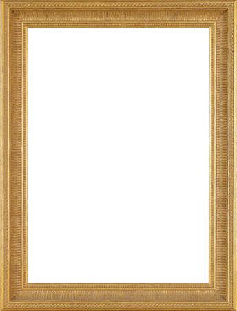 Foto frame geïsoleerd op witte achtergrond Stockfoto