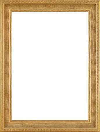 baroque picture frame: Picture frame isolated on white background Stock Photo