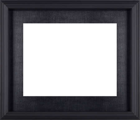 picture: Black picture frame isolated on white background