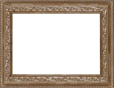 antique gold picture frames: Picture frame isolated on white background Stock Photo