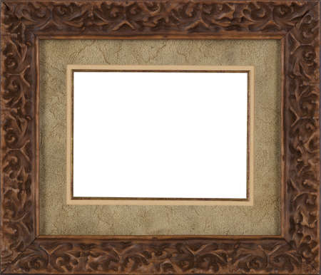 art exhibition: Picture frame isolated on white background Stock Photo