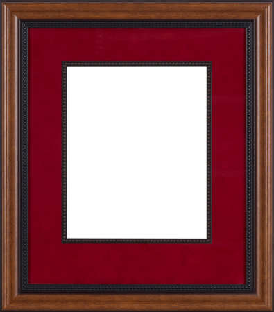gold swirls: Picture frame isolated on white background Stock Photo