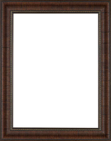 baroque border: Picture frame isolated on white background Stock Photo