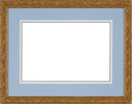 old photograph: Picture frame isolated on white background Stock Photo