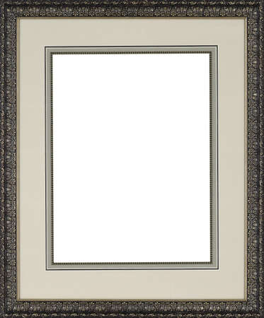home decorating: Picture frame isolated on white background Stock Photo