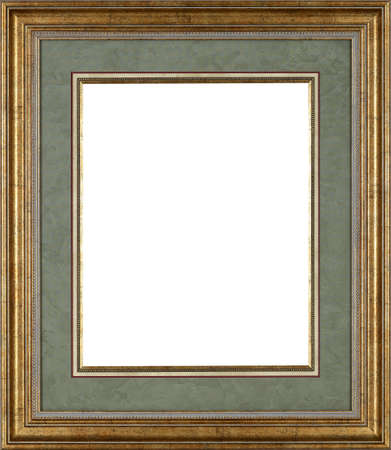 rectangle: Picture frame isolated on white background Stock Photo