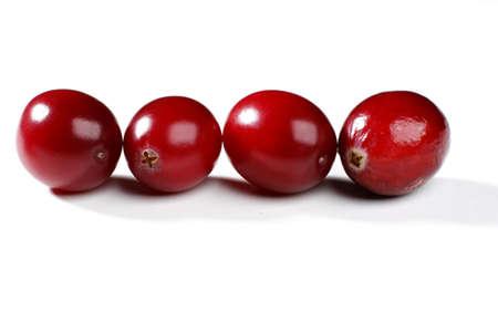 Fresh cranberry isolated on white background photo