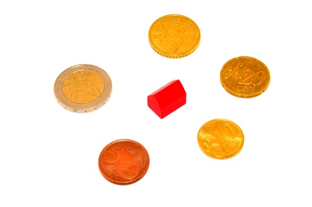 coins and house Stock Photo - 13577932