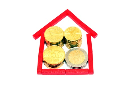 Coins and house photo