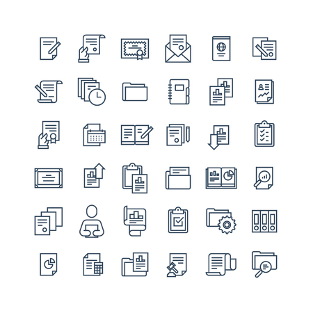 Office documents icon set