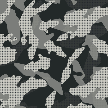 Vector camouflage pattern. Grey colors Illustration