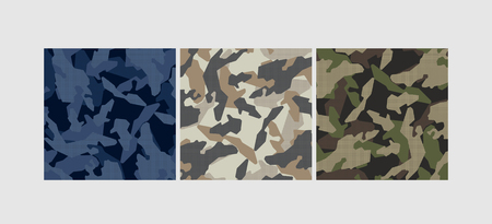 Vector camouflage pattern. Grey colors Çizim